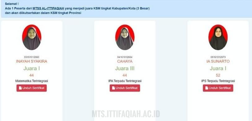 Mumtaz, Santri Juara KSM Go Provinsi