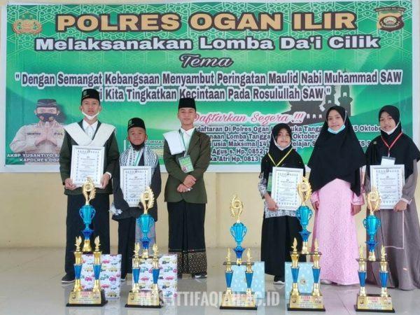 Juara 1 & 3 Lomba Da'i Cilik, Santri MTs Al-Ittifaqiah Bawa Pulang Trophy